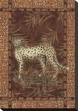 Leopardo solitario Reproducción en lienzo de la lámina por Kathleen Denis