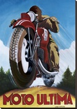Moto Ultima Stretched Canvas Print by Chris Flanagan