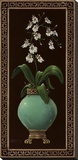 Ginger Jar With Orchids I Stretched Canvas Print by Janet Kruskamp