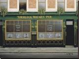Pub Sherlock Holmes Reproduction transférée sur toile par Andre Renoux