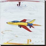 Jet Stretched Canvas Print by Paul Gibson