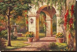 Arch Courtyard I Stretched Canvas Print by Sung Kim