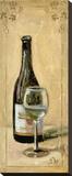 White Wine With Glass Reproduction sur toile tendue par Shari White