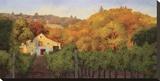 Ochre Hillside Stretched Canvas Print by Erin Dertner