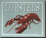 Lobster Stretched Canvas Print by Catherine Jones