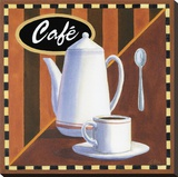Cafe Stretched Canvas Print by Geoff Allen