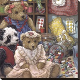 Buttons N' Bears Leinwand von Janet Kruskamp