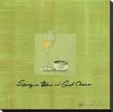 Wine & Cheese II Stretched Canvas Print by Jennifer Sosik