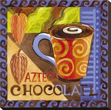 Azteca Chocolate Stretched Canvas Print by Jennifer Brinley