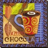 Azteca Chocolate Stretched Canvas Print by Jennifer Brinley