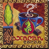 Oaxacan Chocolate Stretched Canvas Print by Jennifer Brinley