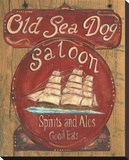 Old Sea Dog Saloon Stretched Canvas Print by Grace Pullen
