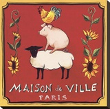 Maison De Ville Stretched Canvas Print by Katharine Gracey