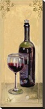 Red Wine With Glass Reproduction sur toile tendue par Shari White