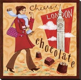 English Chocolate Stretched Canvas Print by Jennifer Brinley