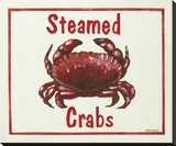 Steamed Crabs Stretched Canvas Print by Catherine Jones