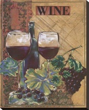 World Of Wine I Stretched Canvas Print by Susan Osborne