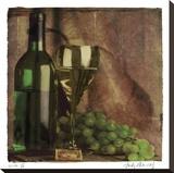 Wine II Stretched Canvas Print by Judy Mandolf