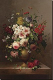 Classic Bouquet II Stretched Canvas Print by  Steiner