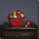 Red Bowl Stretched Canvas Print by J. Alex Potter