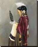 Inner Song Stretched Canvas Print by Deborah Hiatt