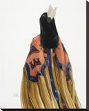 Graceful Lady Stretched Canvas Print by Deborah Hiatt