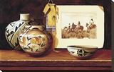 Cheyenne Tobacco Bag Stretched Canvas Print by Chuck Sabatino