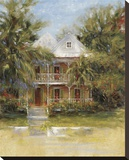 Keywest Cottage I Stretched Canvas Print by J. Martin