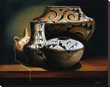 Les acomas Reproduction transférée sur toile par Chuck Sabatino