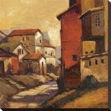 Tuscany Urbana Stretched Canvas Print by Kanayo Ede
