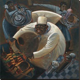 Chefs in Motion IV Stretched Canvas Print by Dylan O'connor