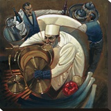 Chefs in Motion II Stretched Canvas Print by Dylan O'connor