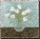 White And Paisley II Stretched Canvas Print by Marcia Rahmana