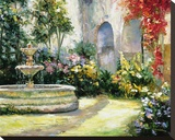 Songs Of The Garden Stretched Canvas Print by Mary Schaefer