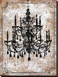 Vintage Chandelier I Stretched Canvas Print by Lisa Ven Vertloh