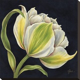 Fleur Blanche Reproduction transf&#233;r&#233;e sur toile par Constance Lael