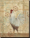 Provence Hen Stretched Canvas Print by Grace Pullen