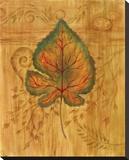 Autumn Leaf II Stretched Canvas Print by Marcia Rahmana