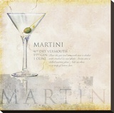 Martini Stretched Canvas Print by Scott Jessop