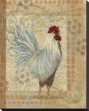 Provence Rooster Stretched Canvas Print by Grace Pullen