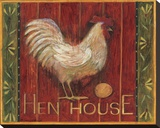 Hen House Stretched Canvas Print by Susan Winget