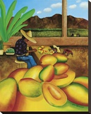Mango Man Stretched Canvas Print by William T. Templeton