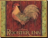 Rooster Inn Stretched Canvas Print by Susan Winget