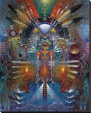 Kachina With Bird Spirit Leinwand von Tom Perkinson