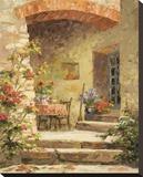 Back Step Garden Stretched Canvas Print by Erin Dertner