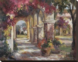 Flowered Archway Stretched Canvas Print by Betty Carr