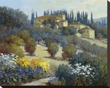 Tucked Away In Tuscany Stretched Canvas Print by Kent Wallis