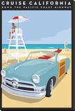 Cruise CA Stretched Canvas Print by David Grandin