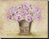 Classic Pink Roses Stretched Canvas Print by Antonette Bowman