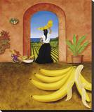 Banana Bandit Stretched Canvas Print by William T. Templeton